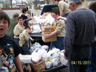 Troop 223 spring food drive.JPG